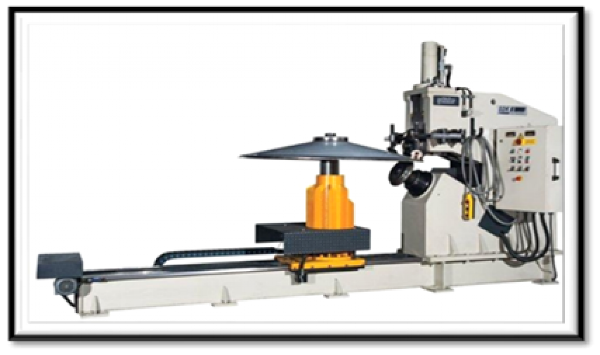 Bending and cutting machine.